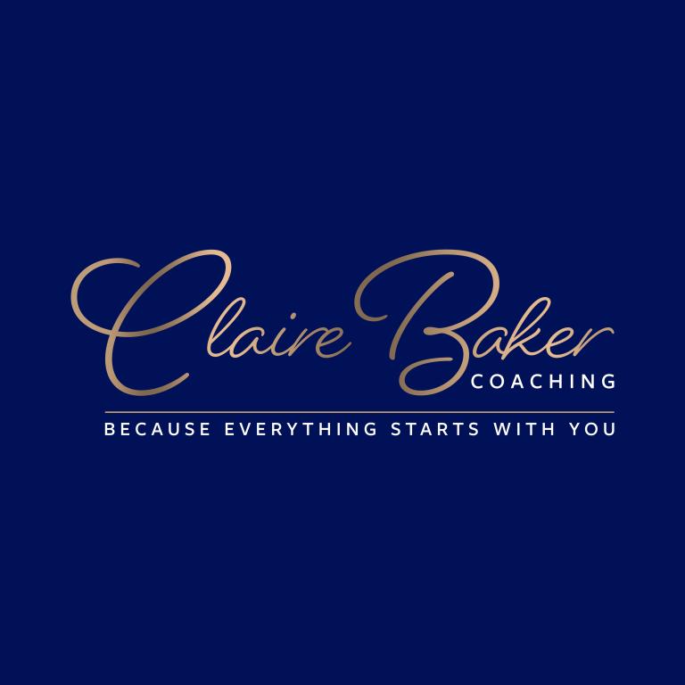 Claire Baker LogoLogo BLUE Strap SQUARE 768x768